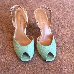 Karen Scott Aqua two tone high heels